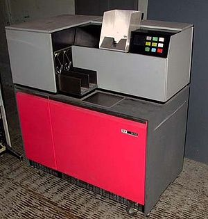 Punched card input/output - IBM 1442 card reader/punch for 80 column cards