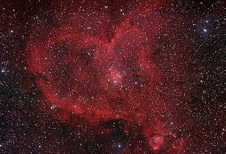 Heart Nebula - Image: IC1805 H alpha + RGB