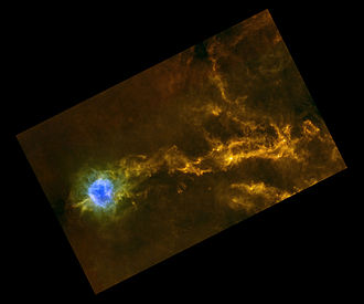 IC 5146 - View of the IC 5146 star-forming region from ESA's Herschel Space Telescope
