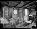 INTERIOR, SMALL ROOMS AT END OF PIER - F. E. Booth Company Pier, Bolinas, Marin County, CA HABS CAL,21-BOLI,1-13.tif