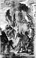 Ignis hostes tuos devoret. Gravure van Jacobus Harrewijn (ca 1720) naar een schilderij van Helmont.PNG