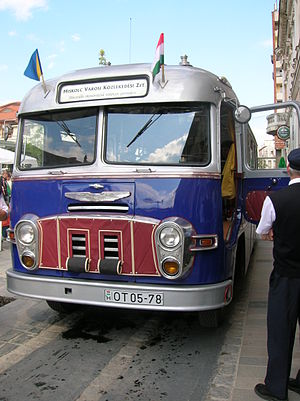 Ikarus Bus - A restored Ikarus 31 (1959) in Miskolc.