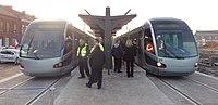 Inauguration de la branche vers Vieux-Condé de la ligne B du tramway de Valenciennes le 13 décembre 2013 (046).JPG