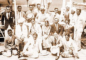 1932 Summer Olympics medal table - The Indian Men's field hockey team en route to the Games, where they would win their second successive gold medal