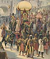 Indian parade with queen riding elephant LCCN2018647622 (cropped).jpg