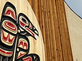 Indigenous Carving on Facade of Kwanlin Dun Community Centre - Whitehorse - Yukon Territory - Canada.jpg