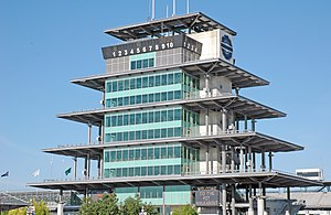 Indianapolis Motor Speedway Radio Network - Pagoda at the Indianapolis Motor Speedway was completed in 2000.