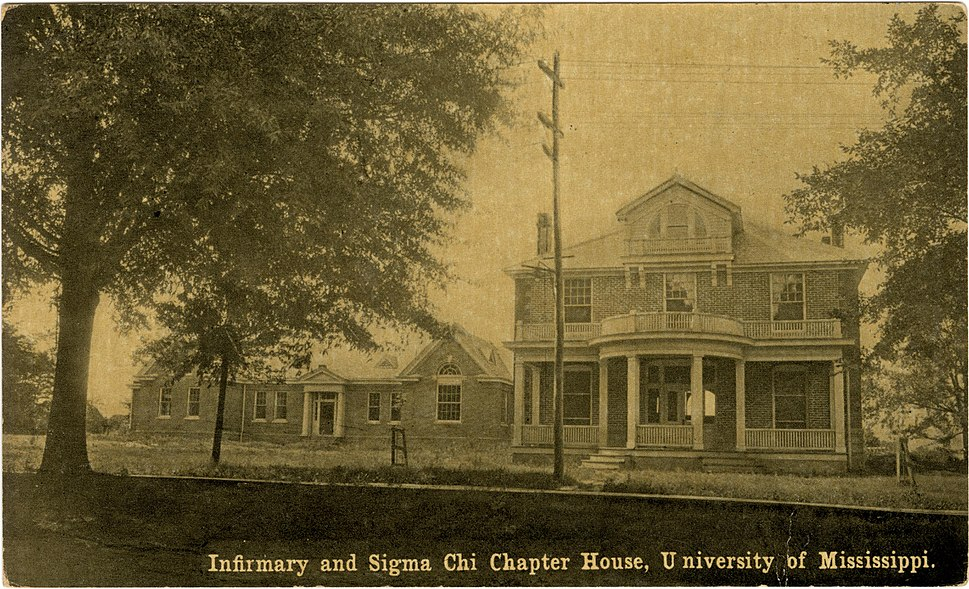 Infirmary and Sigma Chi Chapter House, University of Mississippi.