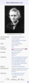 Infobox Marie Curie (French Wikipedia).png