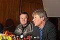 Inge Ryan (SV Norge) och Lars Ohly (V Sverige) haller presskonferens.jpg