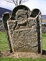 Inscription on old headstone, Loch Lee side - geograph.org.uk - 1393896.jpg