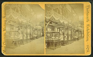 Massachusetts Charitable Mechanic Association - Image: Interior showing wares, from Robert N. Dennis collection of stereoscopic views 3