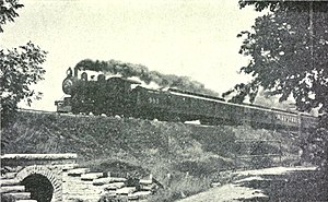International (Amtrak train) - The eastbound  International Limited operating on the Grand Trunk Railway around 1909