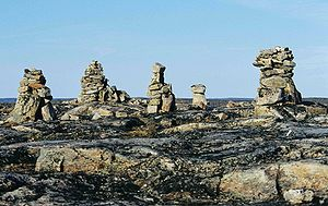 Inuksuk - Inuksuit at the Foxe Peninsula (Baffin Island), Canada