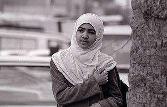 Types of hijab - Image: Iraqi School Girl 01b