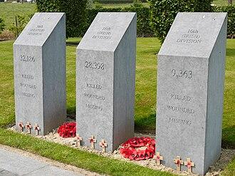 Conscription Crisis of 1918 - Memorial to casualties of Irish volunteer regiments at Island of Ireland Peace Park