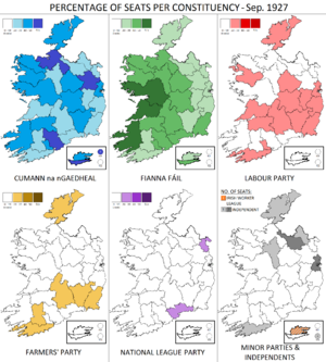 Irish general election, September 1927 - Image: Irish general election Sep 1927