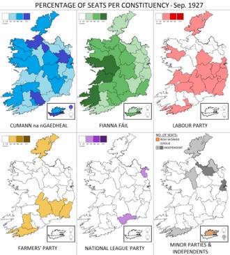 Irish general election, September 1927 - Image: Irish general election Sep 1927