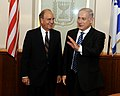 Israeli Prime Minister Netanyahu and Special Envoy Mitchell Pose for a Photo (4804822491).jpg