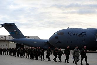 Operation Serval - C-17 transport aircraft from the United States and Canada at Istres-Le Tubé Air Base preparing to load French forces, 21 January 2013.
