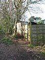 It's easy to miss the beginning of this public footpath - geograph.org.uk - 1773832.jpg