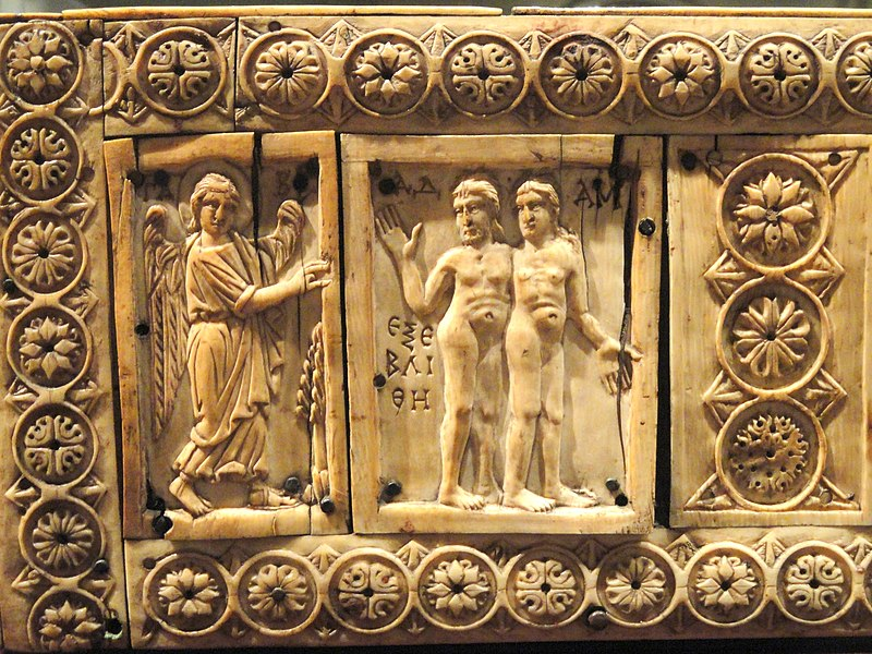 File:Ivory Box with Scenes of Adam and Eve, 1000-1100s AD, Byzantine, Constantinople, ivory, wood - Cleveland Museum of Art - DSC08381.JPG
