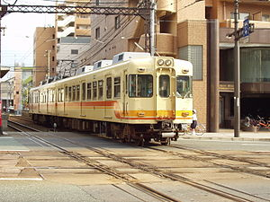 Choshi Electric Railway 2000 series - Iyo Railway set 823 (later Choshi Electric Railway set 2002) in June 2007