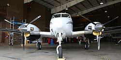 JAARS King Air in Hangar