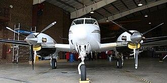 JAARS - A King Air in the JAARS hangar