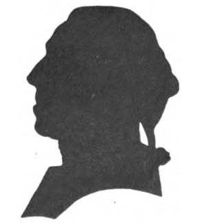 Johann Gerhard Reinhard Andreae - A silhouette of J.G.R. Andreae