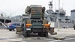 JGSDF Type 81 SAM(launcher, 04-2621) left behind view at JMSDF Maizuru Naval Base July 29, 2017.jpg