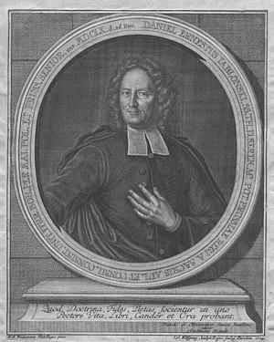 Daniel Ernst Jablonski - Daniel Ernestus Jablonski. A drawing by Friedrich Wilhelm Weidemann, 1724