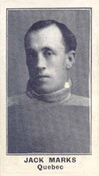 Jack Marks (ice hockey) - Marks with the Quebec Bulldogs.