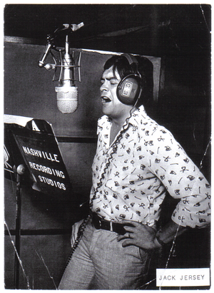 Jack Jersey - Jack Jersey recording live album in one of the Nashville recording studio's with The Jordanaires, 1974.