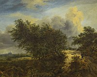 Jacob van Ruisdael - Landscape Showing Haarlem Church - 1940-12-2 - Auckland Art Gallery.jpg