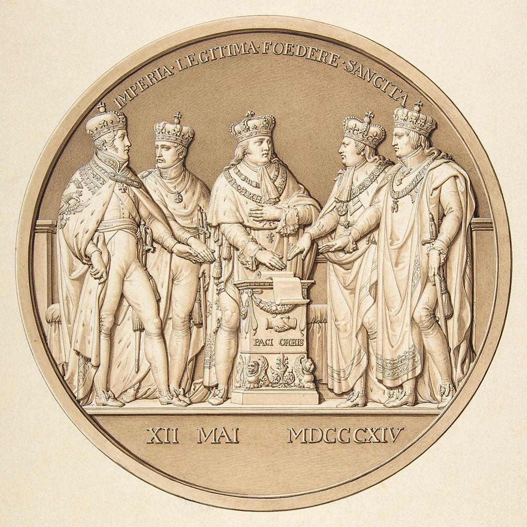 Жак Эдуар Гатто, Эскиз медали в честь Парижского мирного договора, 1814.jpg