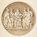 Jacques Édouard Gatteaux, Design for a Medal Commemorating the Treaty of Paris, 1814.jpg