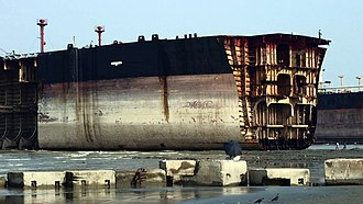 Ship breaking - Image: Jafrabad Chittagong shipbreaking (7)