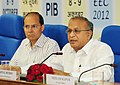 Jaipal Reddy addressing the Economic Editors' Conference-2012, in New Delhi on October 09, 2012. The Secretary, Ministry of Petroleum and Natural Gas, Shri G.C. Chaturvedi is also seen.jpg