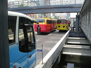 Transport in Indonesia - Transjakarta bus rapid transit.