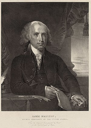 Pendleton's Lithography - Image: James Madison ca 1828 by Pendleton LOC 19166v