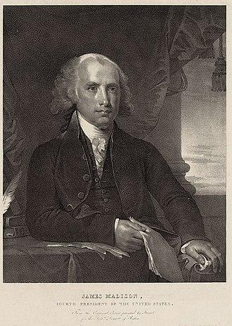 Pendleton's Lithography - Image: James Madison ca 1828 by Pendleton LOC 19166v