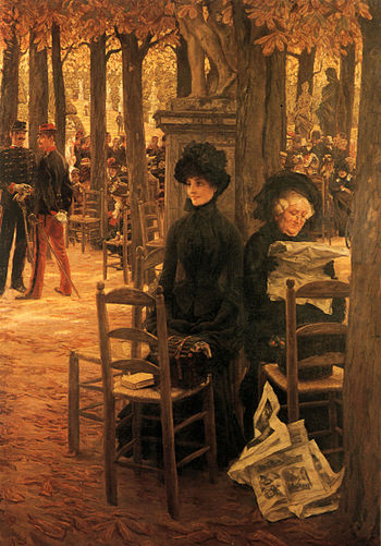 James Tissot - Without a Dowry aka Sunday in the Luxembourg Gardens.jpg