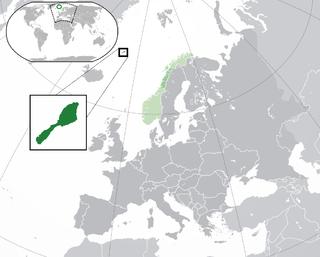 Norwegian volcanic island situated in the Arctic Ocean