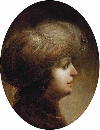 Jan van de Venne - Portrait of a gentleman with a white turban