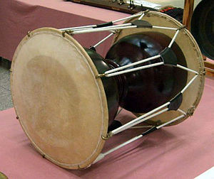 Hourglass drum - The janggu, a traditional Korean hourglass drum