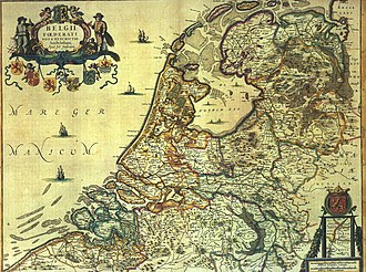 Zuiderzee - Historical map of the Netherlands (1658) with De Zuyder Zee'
