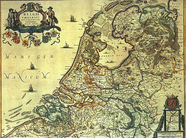 Historical map of the Netherlands (1658) with the Zuyder Zee Jansoni.jpg