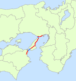 Japan National Route 28 - Image: Japan National Route 28 Map