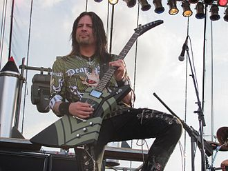 Five Finger Death Punch - Jason Hook, who replaced guitarist Darrell Roberts in 2009